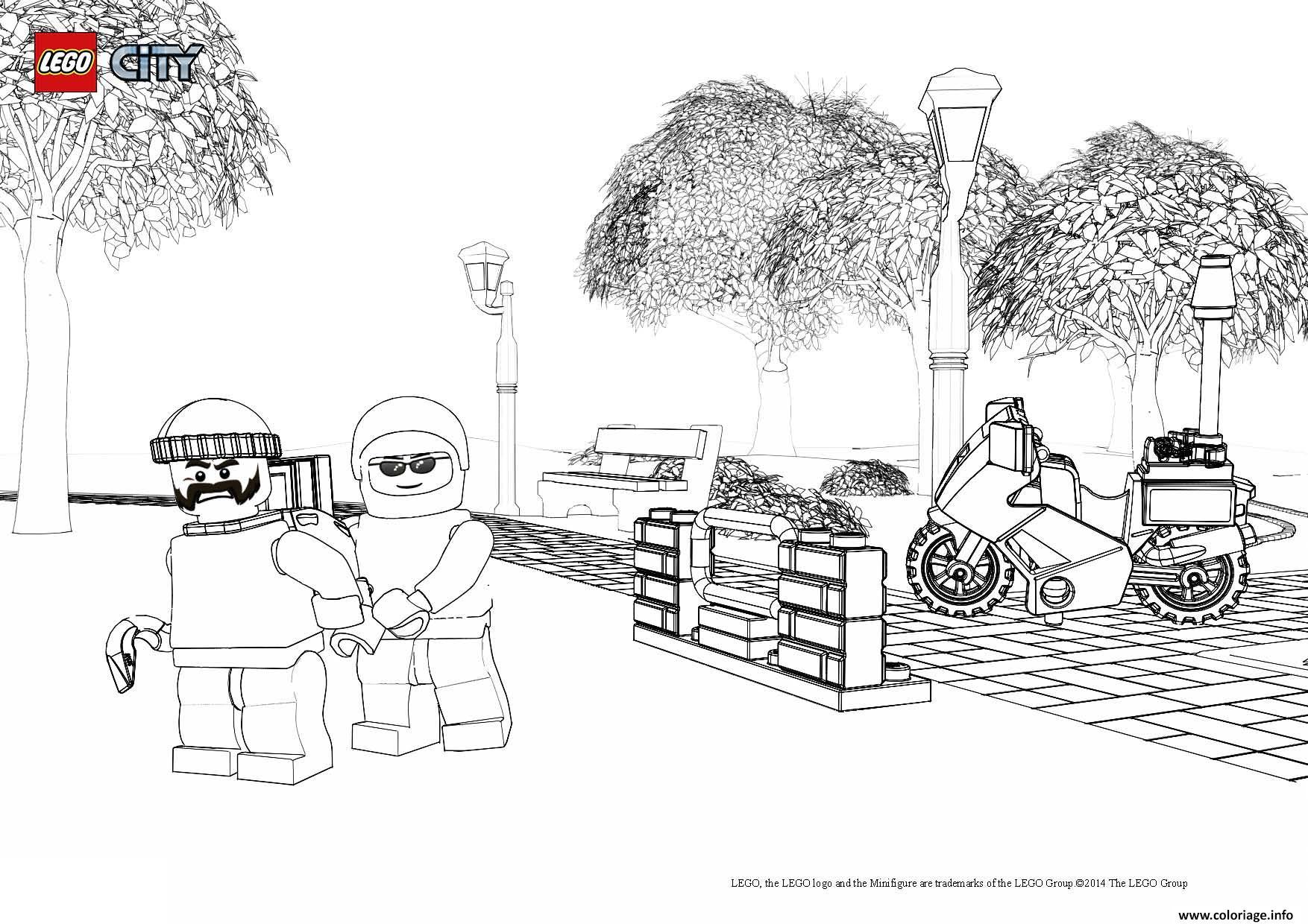 Coloriage Avion Lego City.Coloriage Lego City Policier Dessin