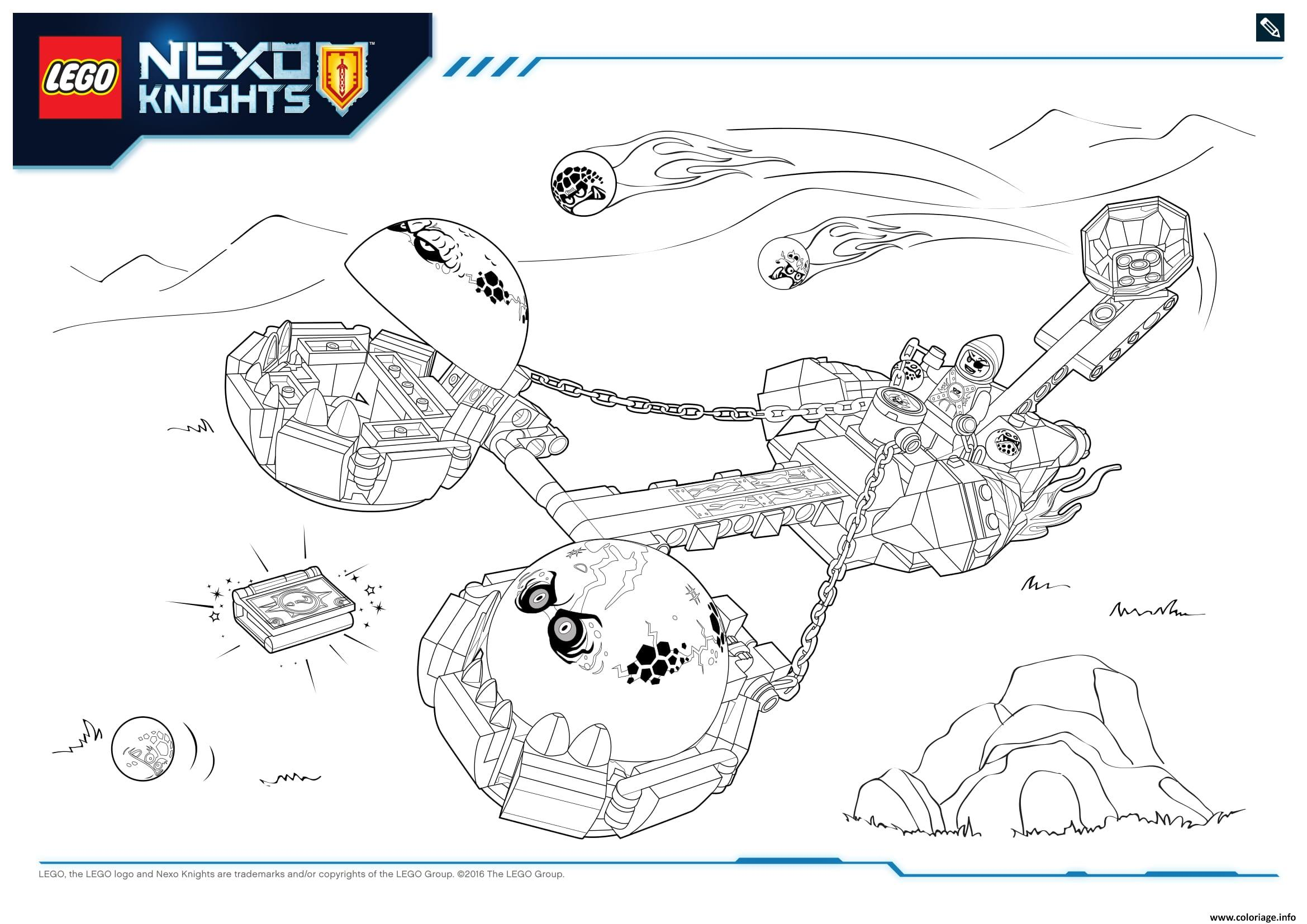 Coloriage Lego Nexo Knights Monster Productss 2 Dessin à Imprimer