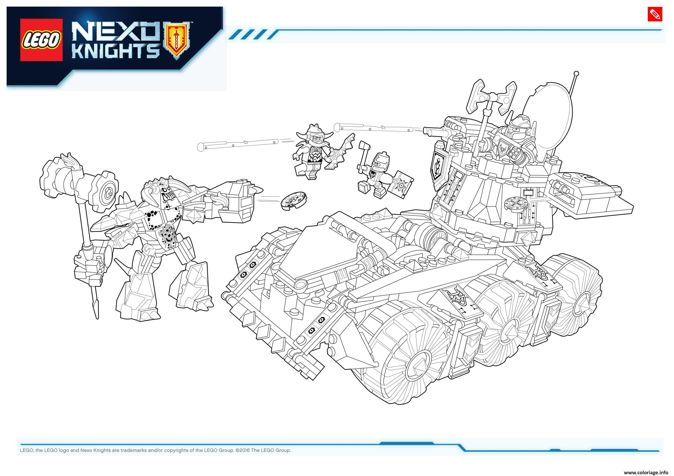 Coloriage Lego Nexo Knights Products 2 Dessin