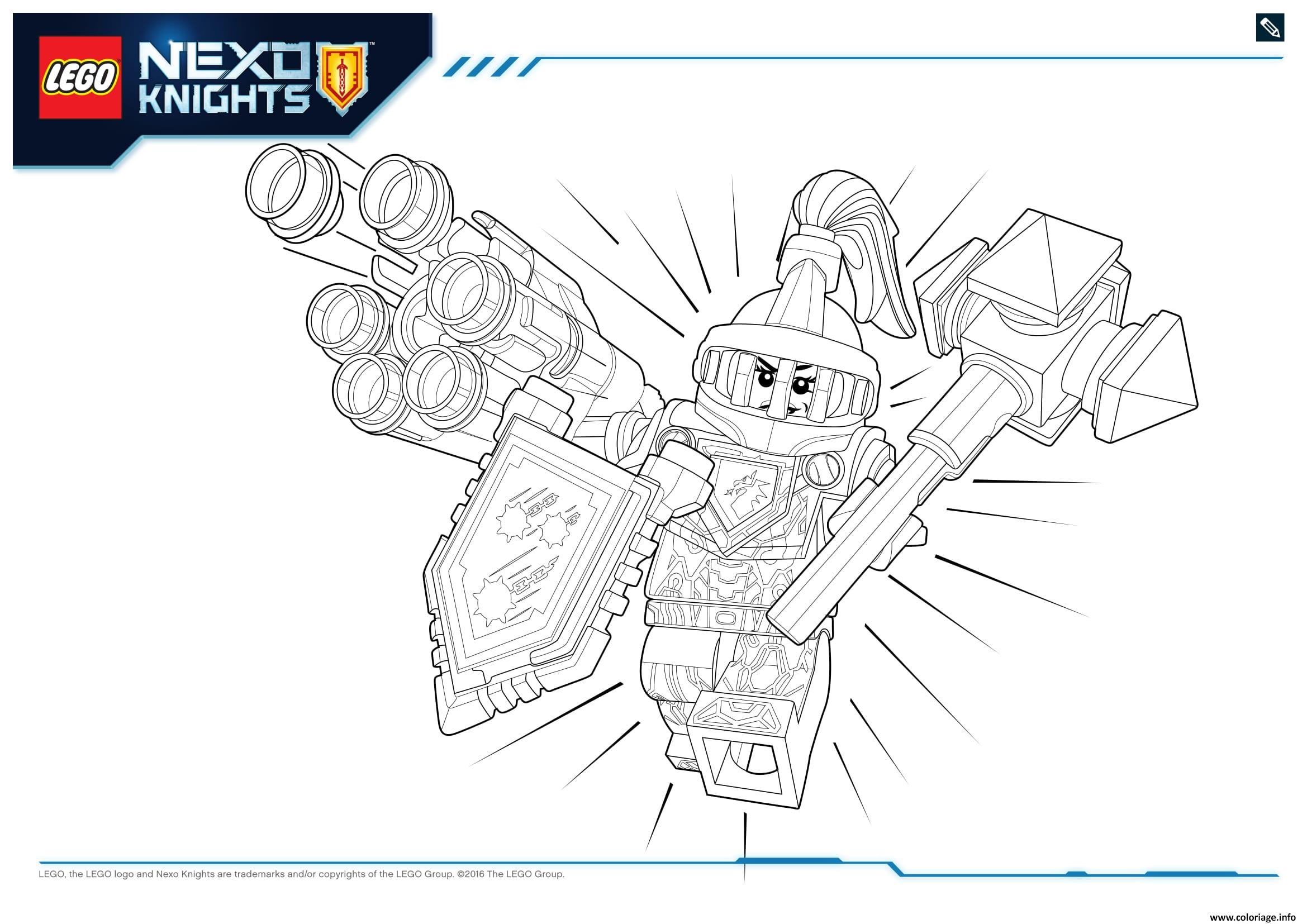 Coloriage Lego Nexo Knights Ultimate Knights 1 Dessin à Imprimer