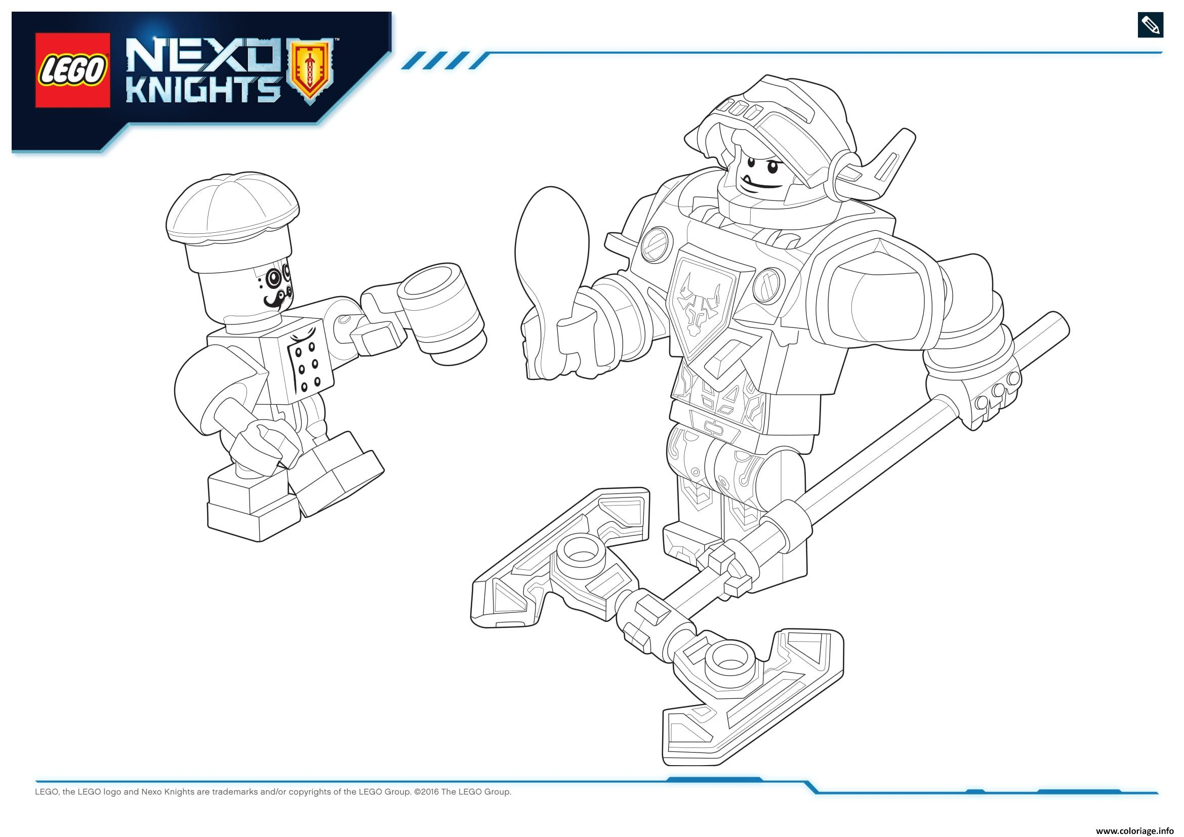 nexo knight coloring pages - coloriage lego nexo knights products 8