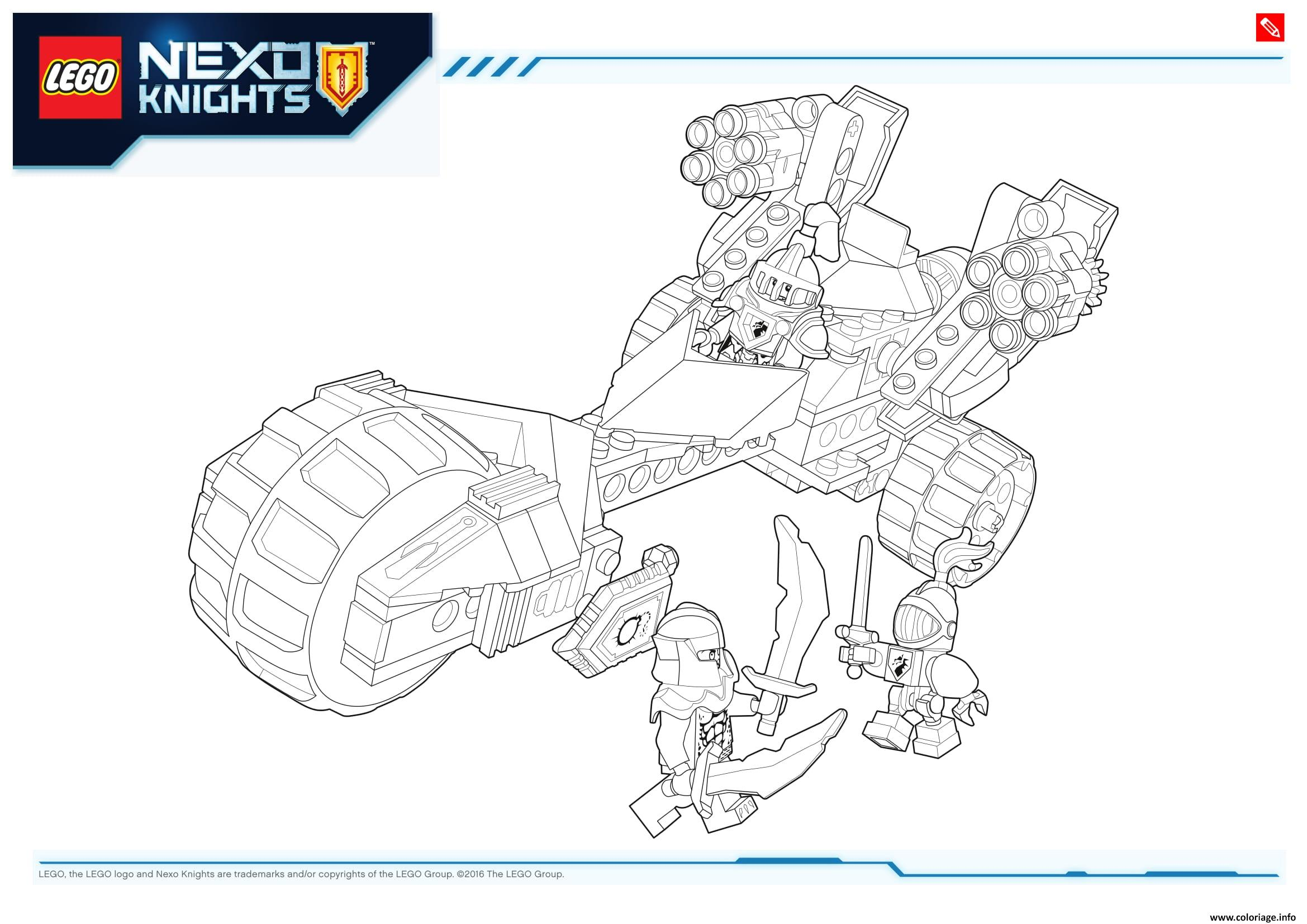 Coloriage Lego NEXO KNIGHTS Products 3 Dessin à Imprimer