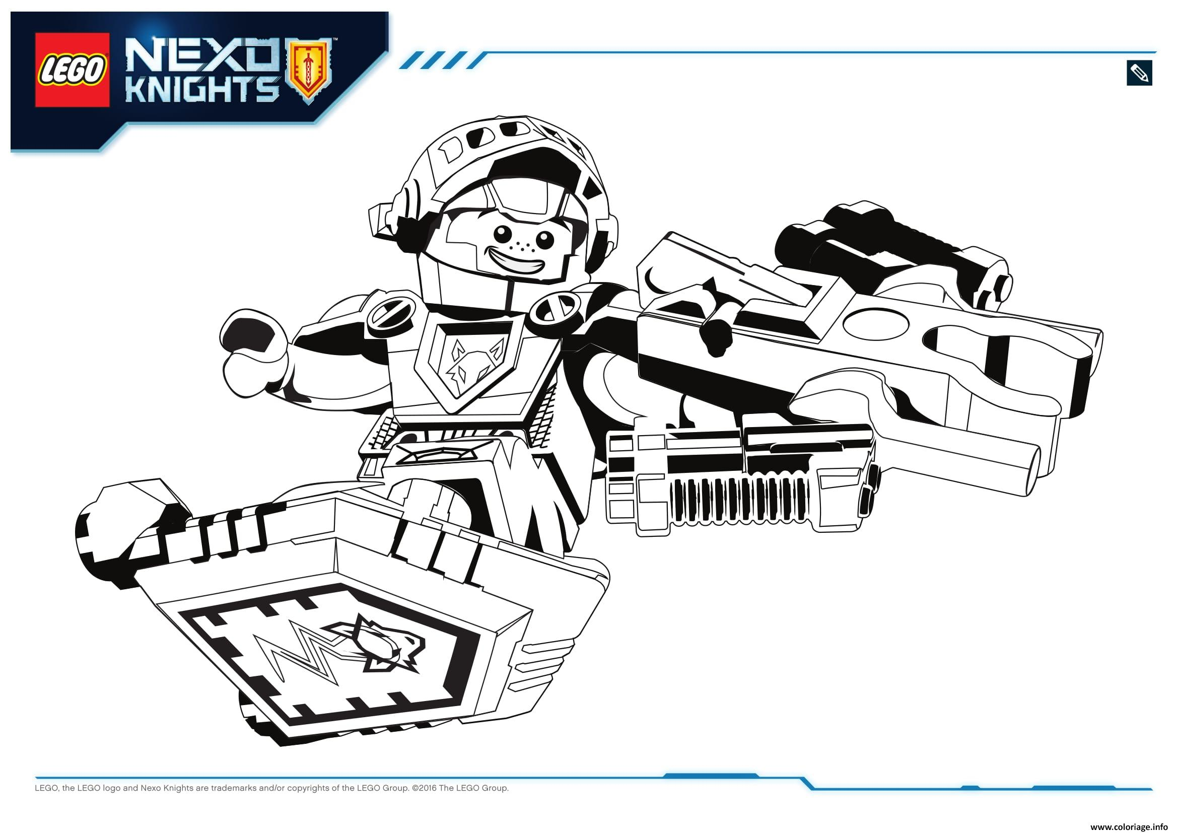 Coloriage lego nexo knights aaron 1 dessin - Lego city a imprimer ...