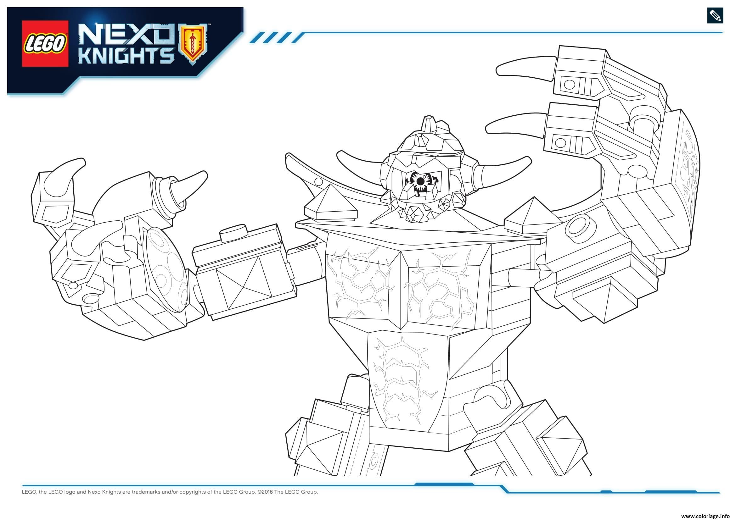 Coloriage Lego Nexo Knights Monster
