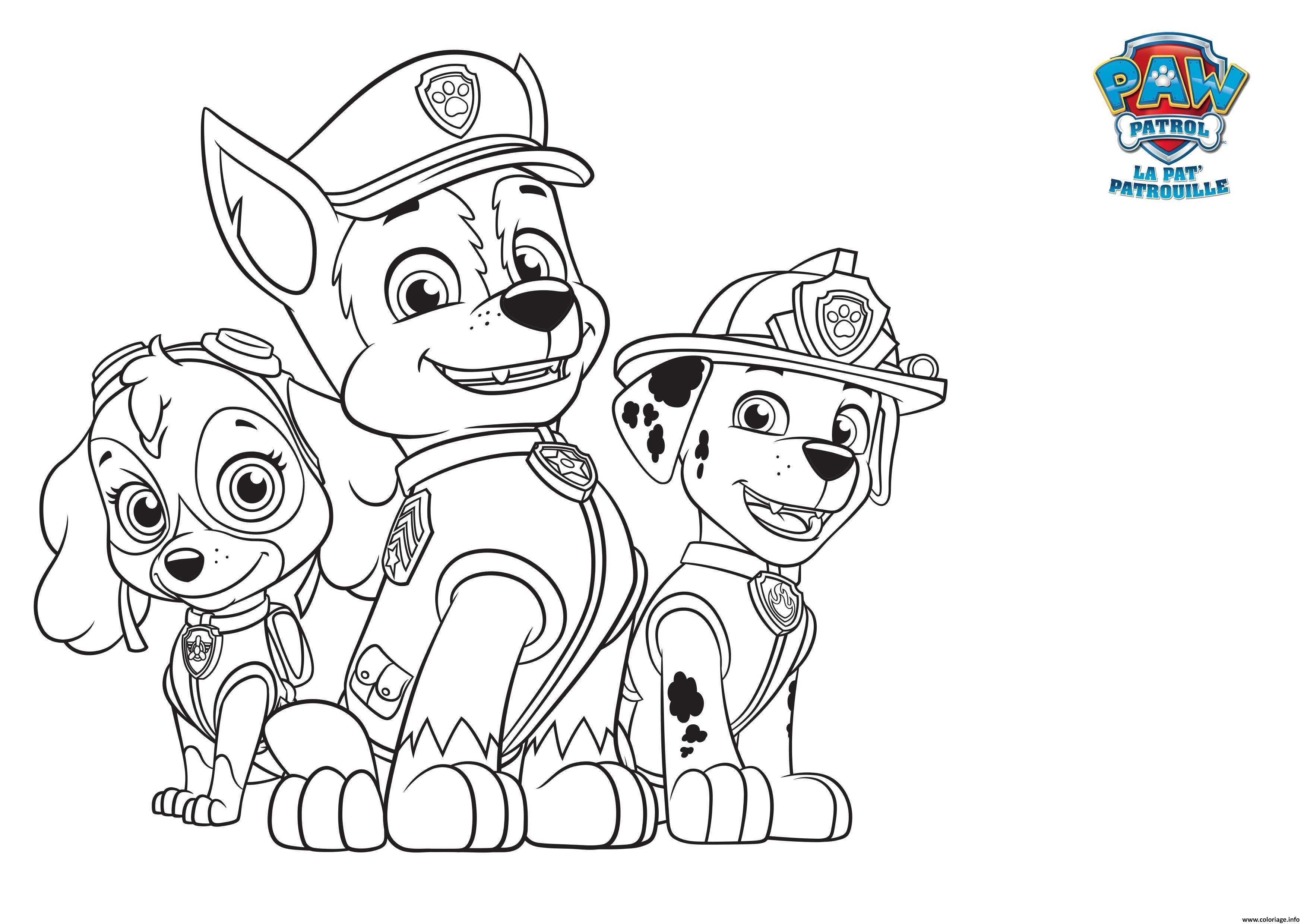 coloriage pat patrol paw pat patrouille dessin imprimer - Pat Patrouille Dessin Anim