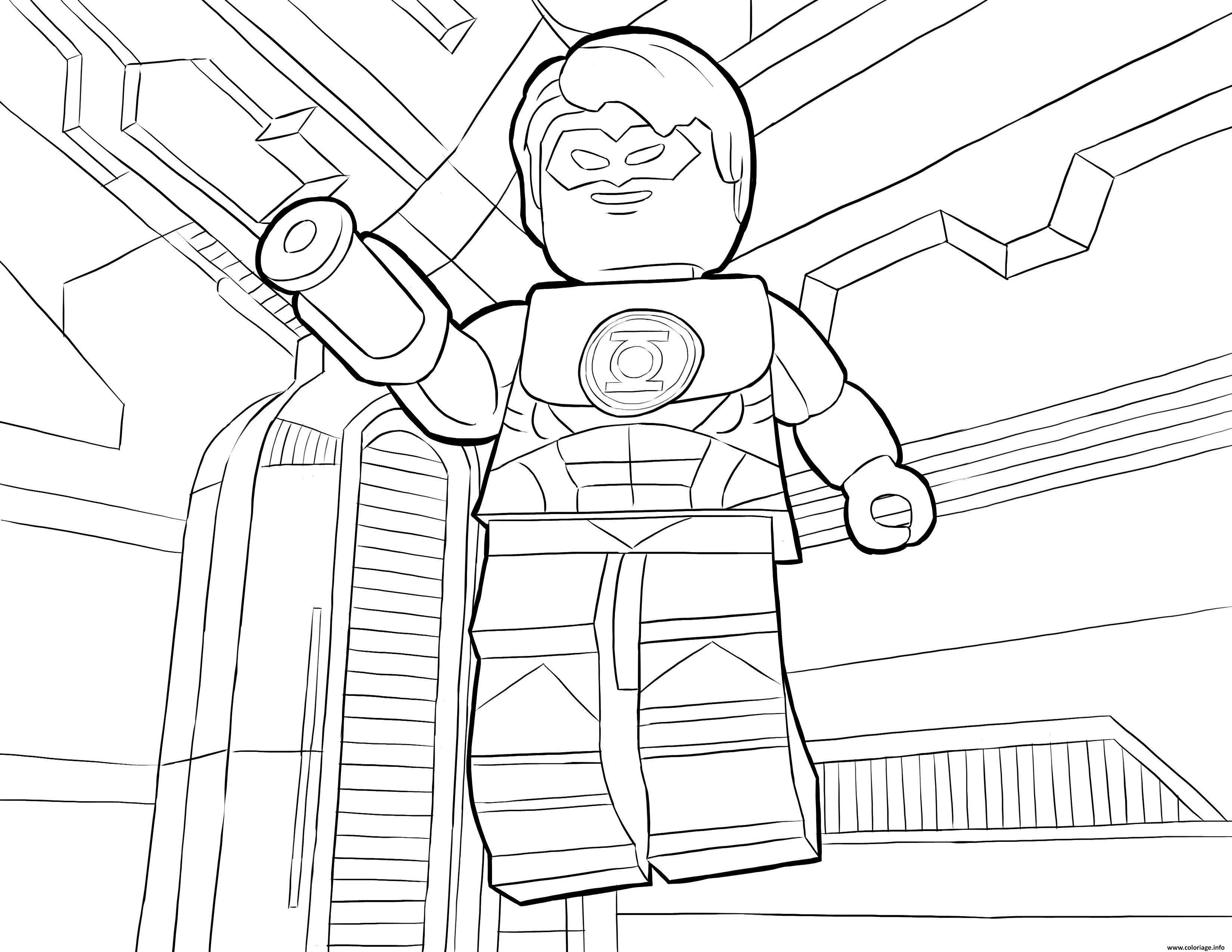 Coloriage LEGO DC Universe Super Heroes Dessin