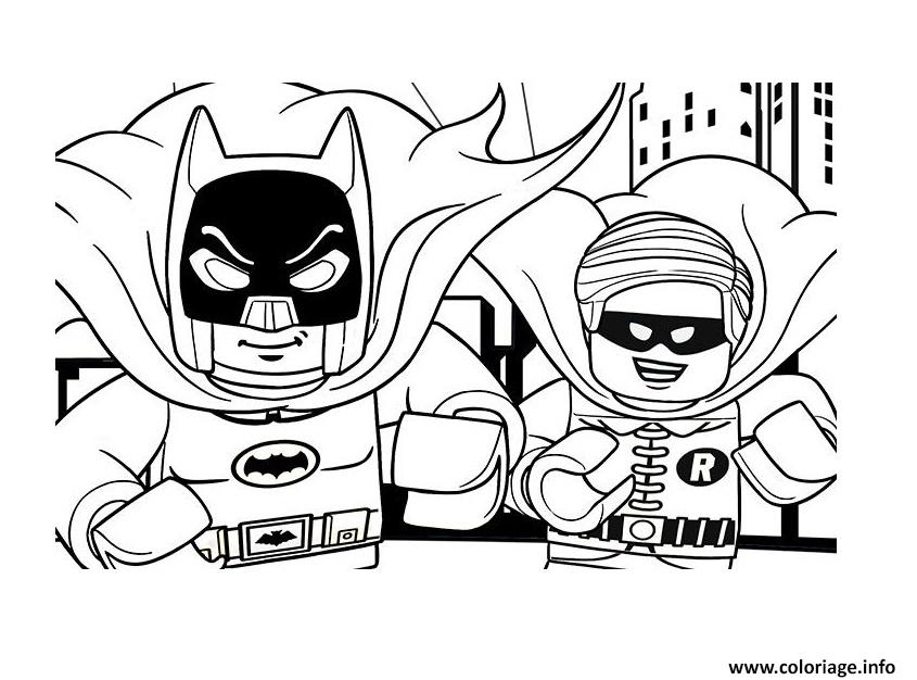Coloriage DC Comics Super Heroes LEGO Batman Movie 2017 Dessin