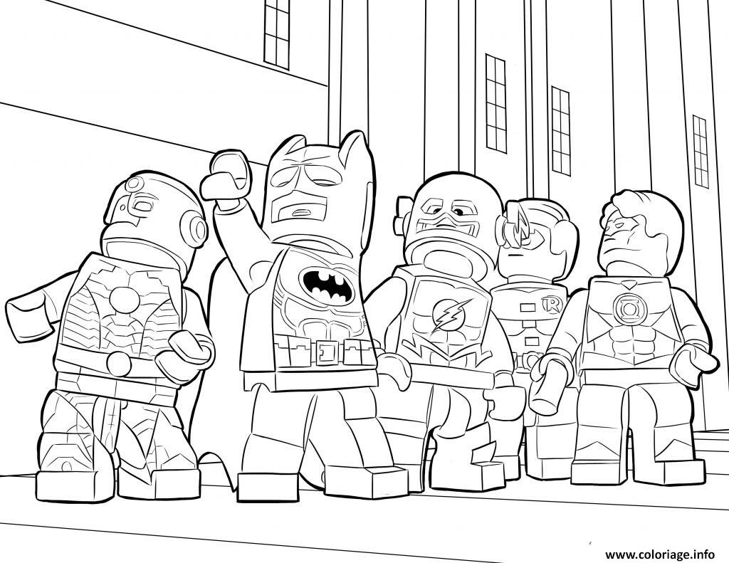 Coloriage lego batman ironman flash
