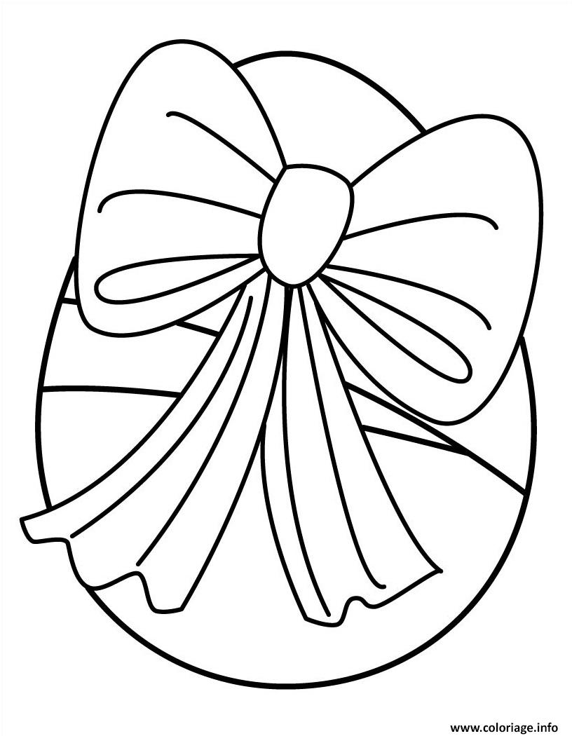 Coloriage oeuf de paques avec ruban dessin - Dessiner un ruban ...