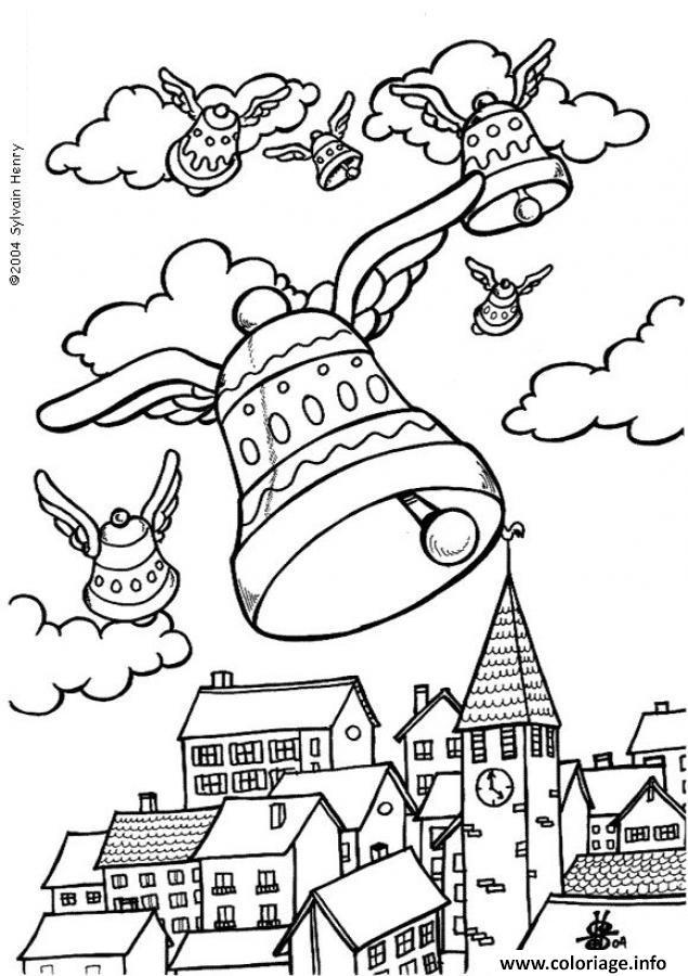 Coloriage cloches de paques dessin - Coloriage paques en ligne ...
