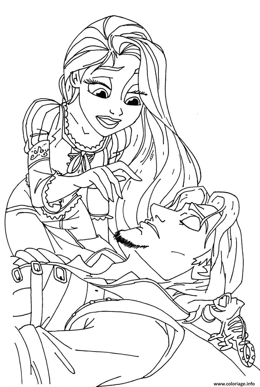 Coloriage le prince de raiponce est malade dessin - Prince et princesse dessin ...