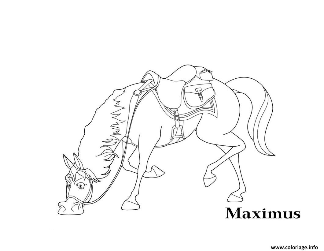 Coloriage Raiponce Maximus Cheval Dessin Raiponce A Imprimer