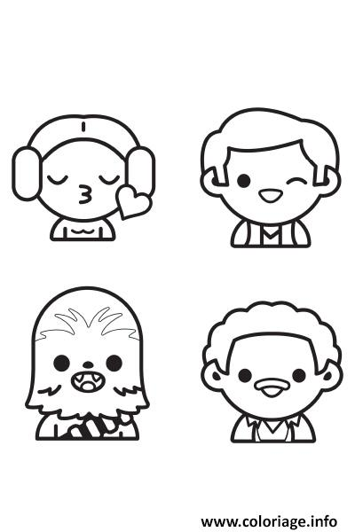 Coloriage star wars personnages emoji dessin - Coloriage magique star wars ...