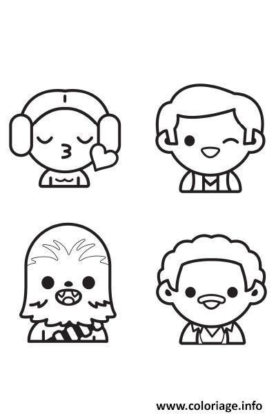 Dessin star wars personnages emoji Coloriage Gratuit à Imprimer