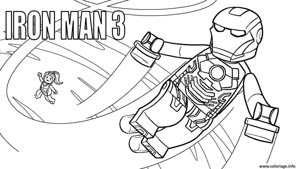 Coloriage Lego Marvel Iron Man 3 Dessin