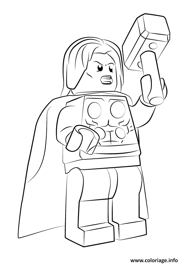 Coloriage lego marvel thor avengers - Lego coloriage a imprimer ...