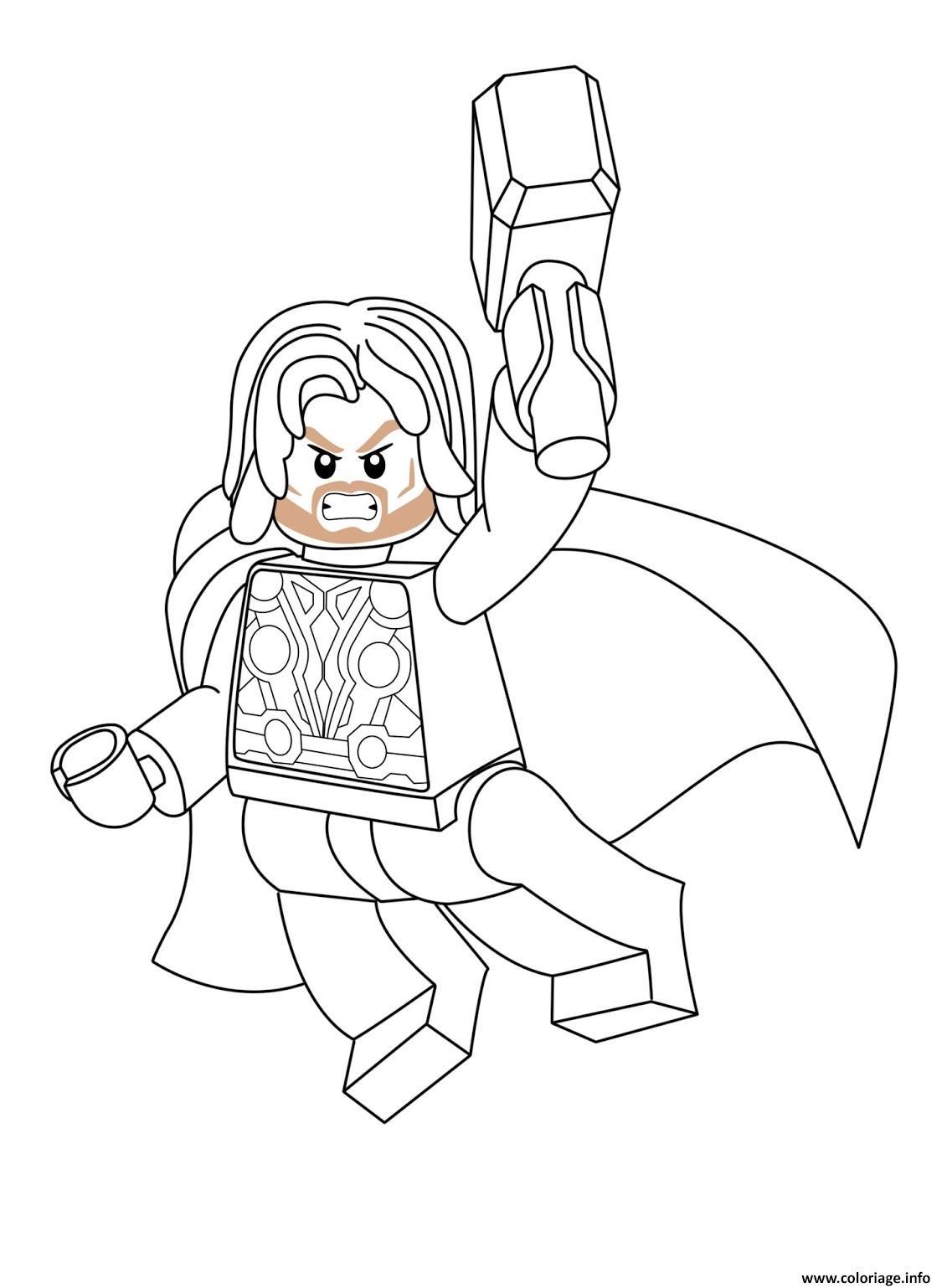 Coloriage Lego Marvel Thor Dessin Lego Marvel à imprimer