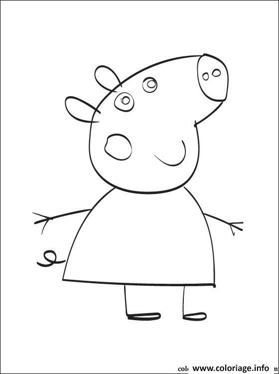 Dessin peppa pig 44 Coloriage Gratuit à Imprimer