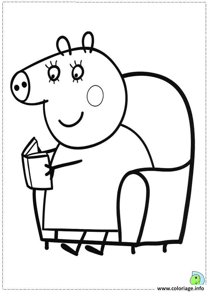 Dessin peppa pig 200 Coloriage Gratuit à Imprimer