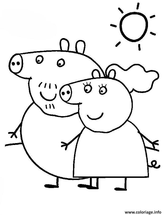 Dessin peppa pig 25 Coloriage Gratuit à Imprimer