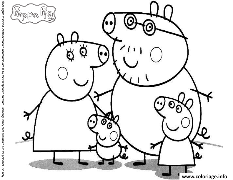 Coloriage peppa pig 47 - Coloriages peppa pig ...