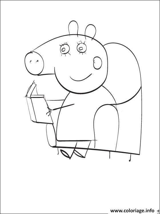 Dessin peppa pig 230 Coloriage Gratuit à Imprimer