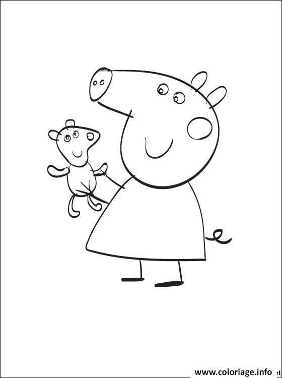 Dessin peppa pig 139 Coloriage Gratuit à Imprimer