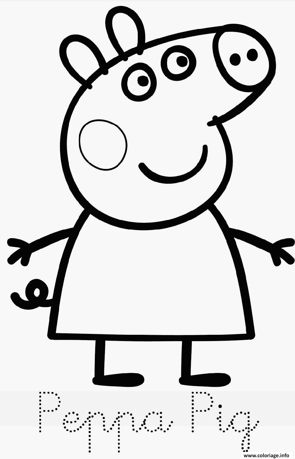 Coloriage peppa pig 276 dessin - Coloriages peppa pig ...