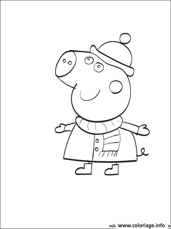 Dessin peppa pig 13 Coloriage Gratuit à Imprimer