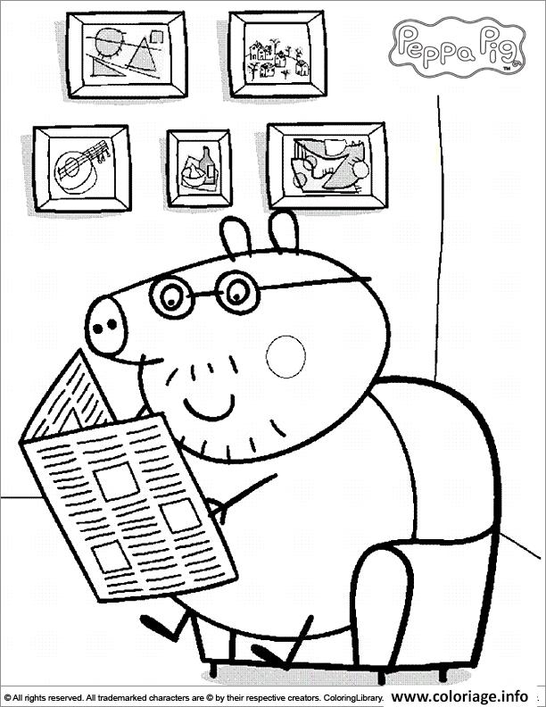 Dessin peppa pig 173 Coloriage Gratuit à Imprimer