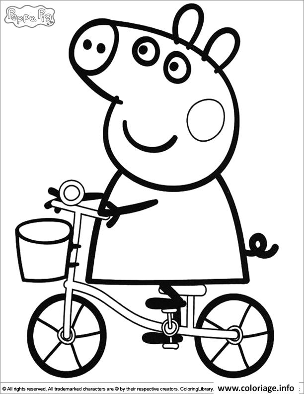Coloriage Peppa Pig 10 Dessin Peppa Pig à imprimer