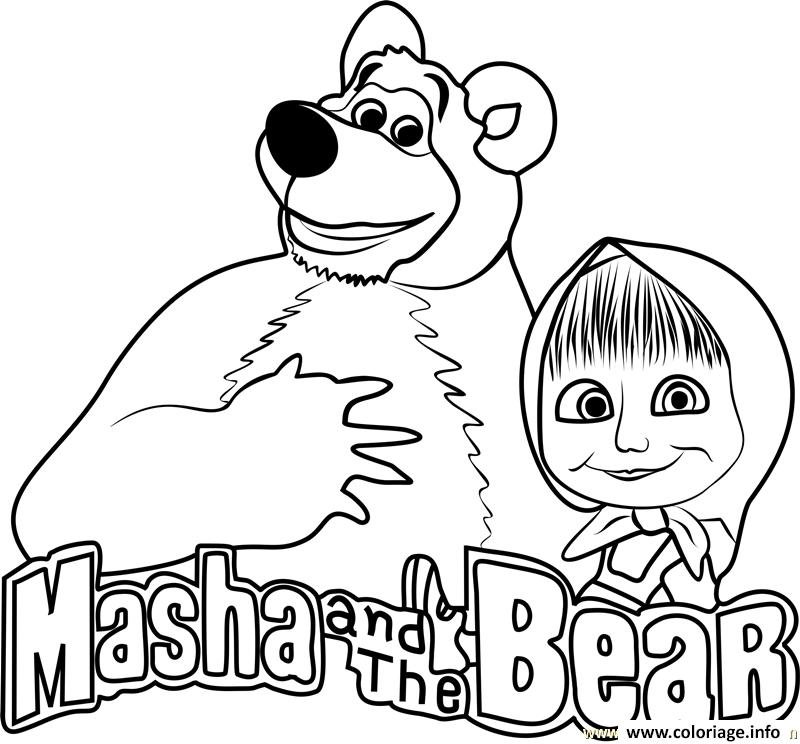 Coloriage Masha And The Bear Masha Et Michka Logo Dessin