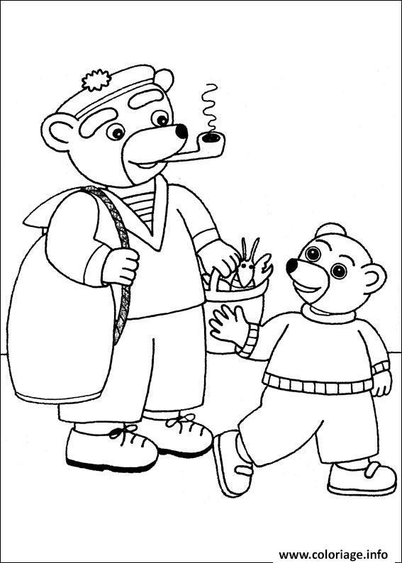 Coloriage petit ours brun avec un grand ours dessin - Coloriage petit ours brun a imprimer ...