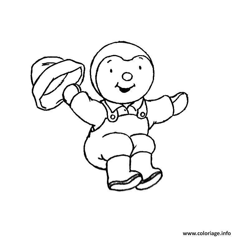 Coloriage tchoupi aime sauter dessin - Dessin tchoupi ...