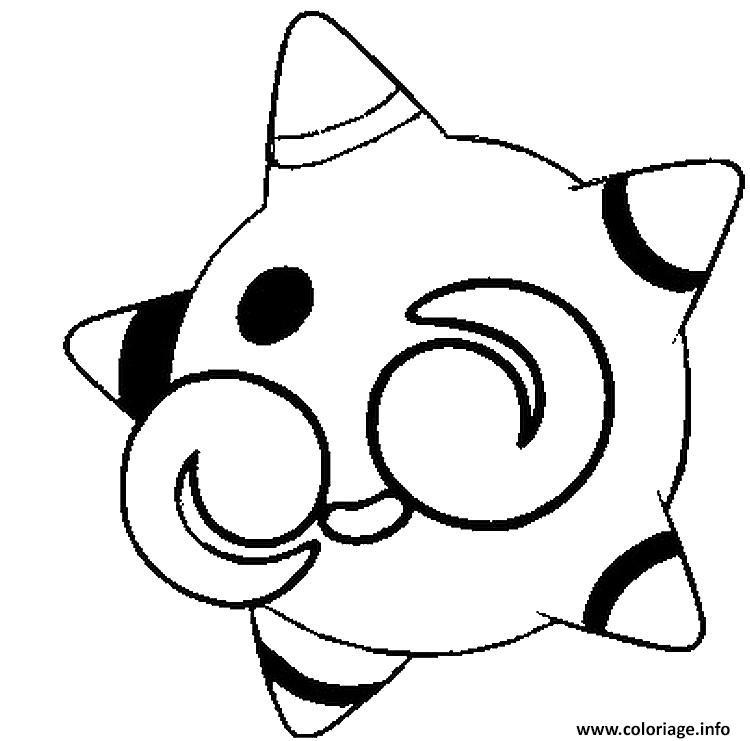 Dessin Meteno pokemon soleil lune Coloriage Gratuit à Imprimer