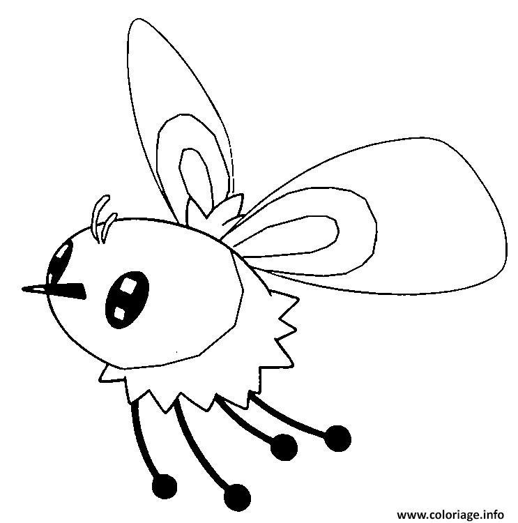 Dessin Bombydou pokemon soleil lune Coloriage Gratuit à Imprimer