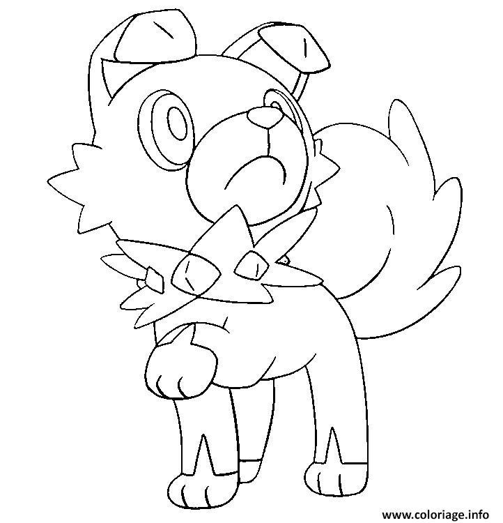 Coloriage Rocabot Pokemon Soleil Lune Dessin
