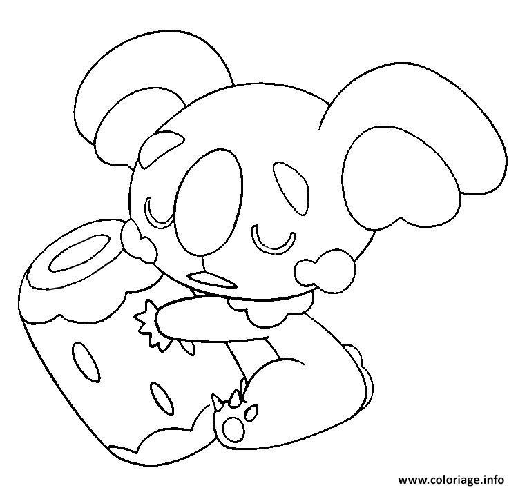 Dessin Dodoala pokemon soleil lune Coloriage Gratuit à Imprimer