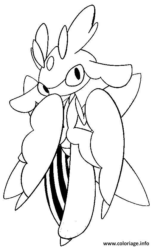 Coloriage floramantis pokemon soleil lune - Coloriage pokemon lune ...