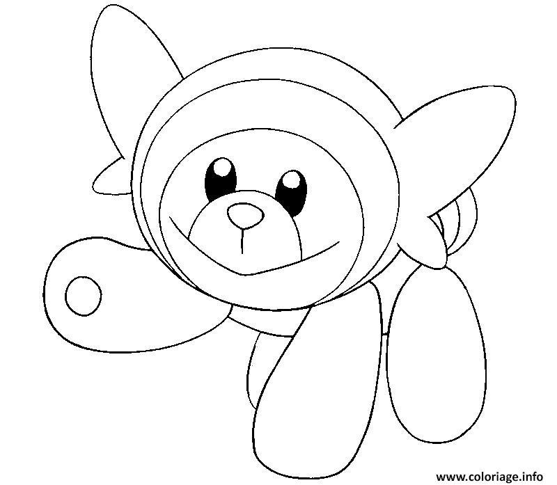 Coloriage nounourson pokemon soleil lune dessin - Coloriage pokemon lune et soleil ...