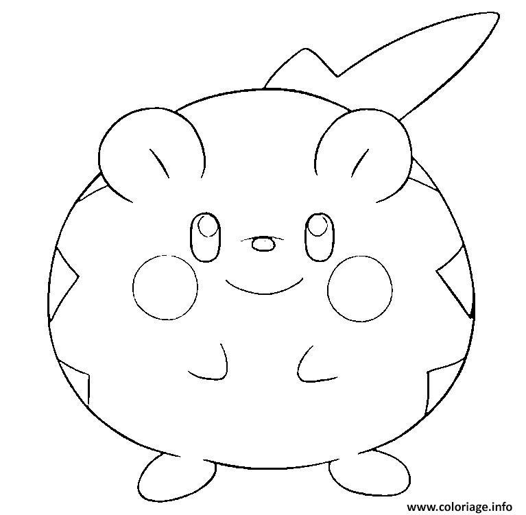 Dessin Togedemaru pokemon soleil lune Coloriage Gratuit à Imprimer