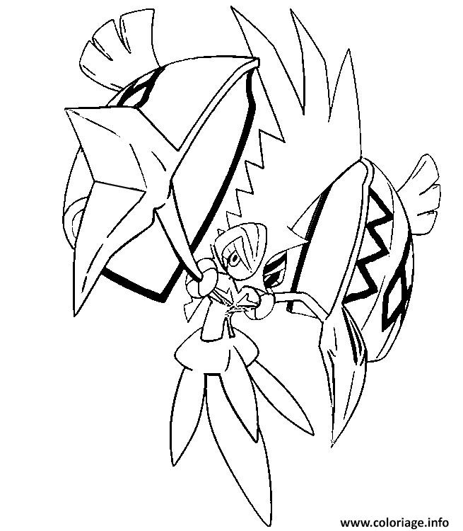 Coloriage tokorico pokemon soleil lune dessin for Pokemon sun and moon coloring pages