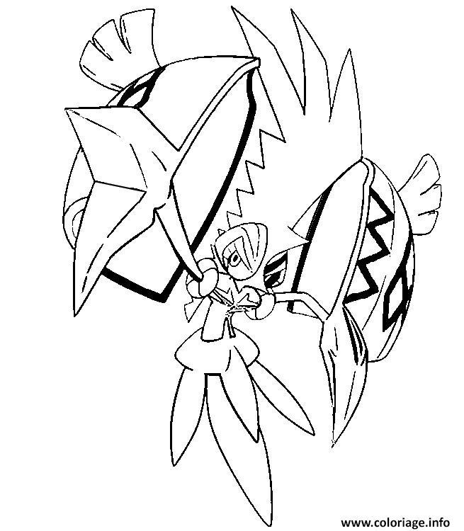 Coloriage tokorico pokemon soleil lune dessin - Coloriage pokemon lune ...