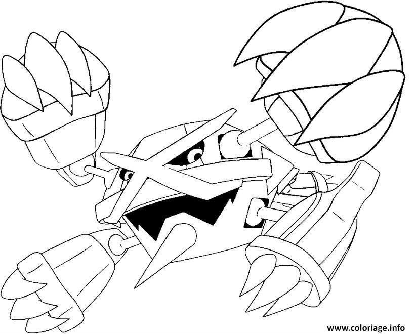 Coloriage Pokemon Mega Evolution Metalosse 376 Jecolorie Com