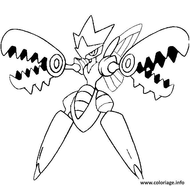 Coloriage pokemon mega evolution cizayox - Coloriage pokemon evolution ...