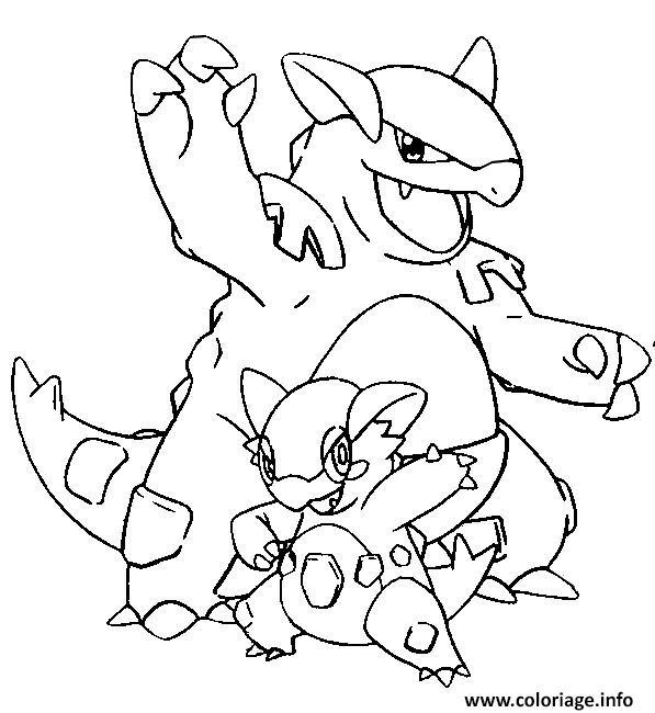 Coloriage pokemon mega evolution kangourex 115 dessin - Pokemon mega kangourex ...