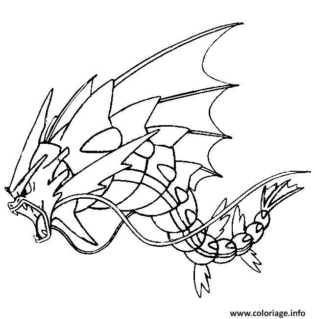 coloriage pokemon mega evolution leviator 130 dessin
