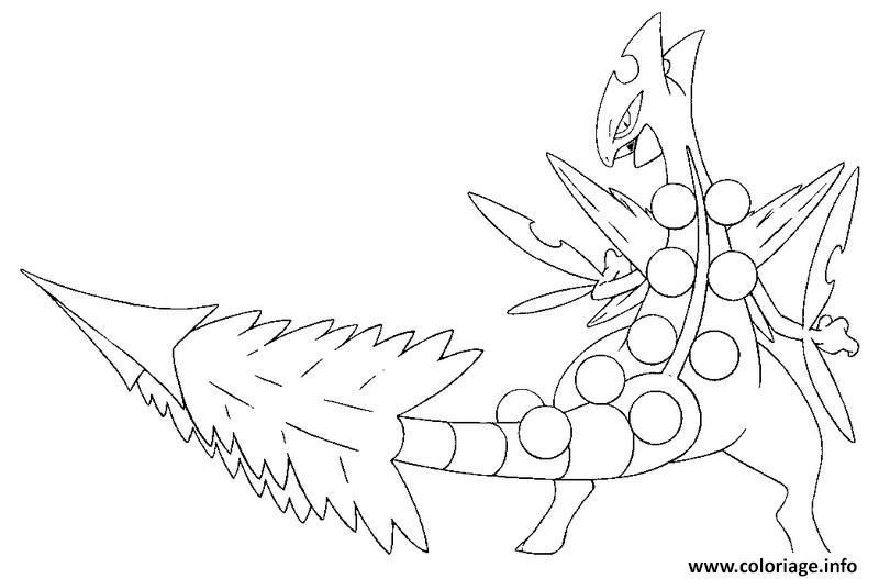 Coloriage Pokemon Mega Evolution Jungko 254 Jecolorie Com
