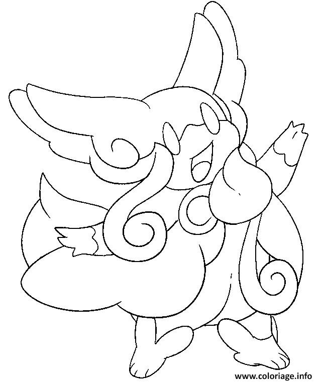 pokemon mega evolution nanmeouie coloriage dessin