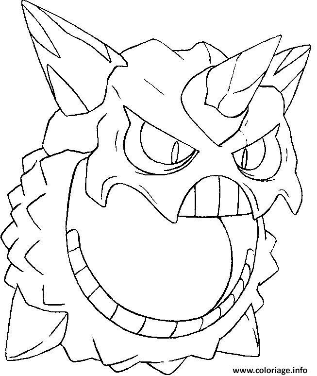 pokemon mega evolution oniglali 362 coloriage dessin